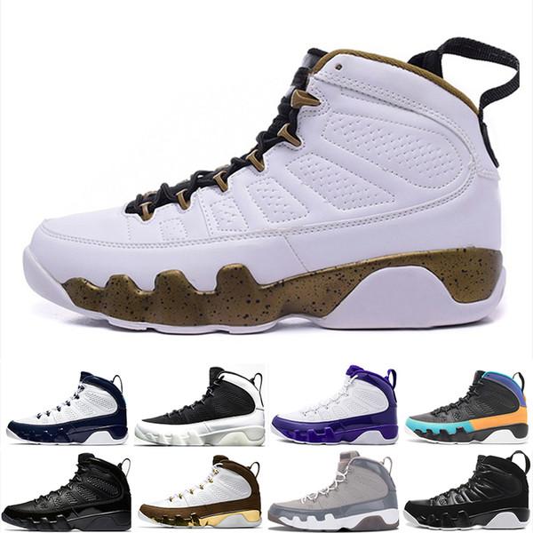 Nike Air Jordan 9 Melo 2018 9 pour LA BRED BLACK BLANC Hommes Chaussures de basket-9s classique IX Mid Athletic Baskets SN94