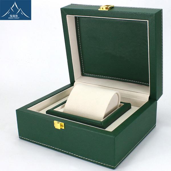 Green Lai Chi pattern PU leather watch box Swiss big watch cashmere spot