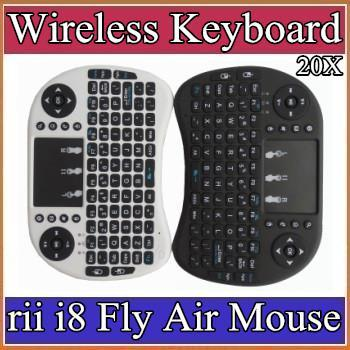 10X 2016 Clavier sans fil RII i8 claviers Fly Air Mouse multimédia Télécommande Touchpad portable pour TV BOX Android Mini PC 11-JP