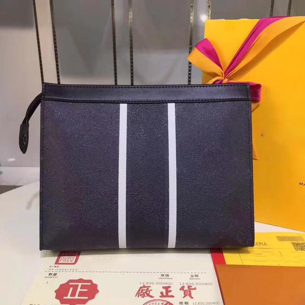 Großhandel Klassischer Clutch Designer Für Herren Aus Echtem Leder Visitenkartenetui Lange Geldbörse Mit Box 26x20x 5cm Von Brandguangzhou 55 84