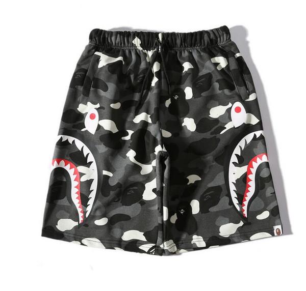 2019 Summer Men's Candy Camo Shark Beach Pants Shorts Cotton Camo Causal Shorts Men Casual Camouflage Skateboard Hip Hop Shorts