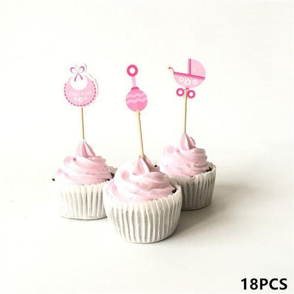18pcs rosa waterdrop