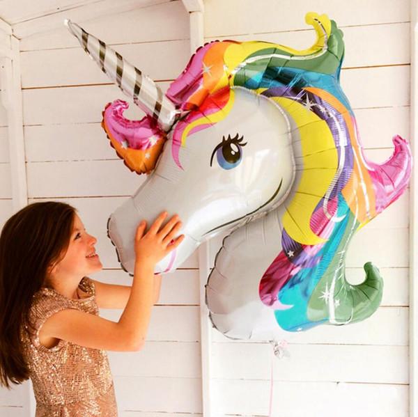 Babyparty-Geburtstags-Einhorn-Dekoration Kinderparty-Ballon-Bevorzugungs-Dekor-Regenbogen-Tierballons, die aufblasbares Einhornballonspielzeug DHL Wedding sind