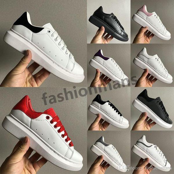 Fashion snake skin Luxury designer shoes UK triple black white 3M reflective grean red silver jade 25 colorways mens womens sneakers