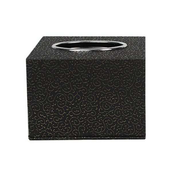Square Decorative Practical Hotel Home Table Car Office Bathroom PU Leather Paper Holder Toilet Storage Tissue Box