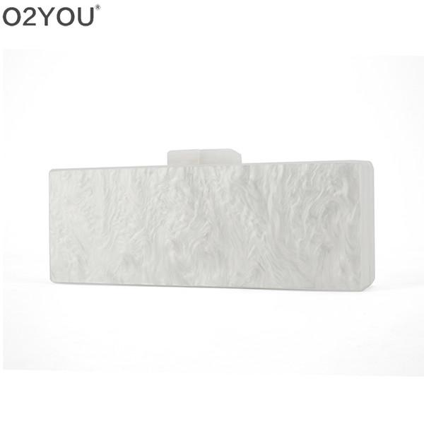 Beyaz / Siyah / fildişi / Üç Renk 25X9 cm Veya 18X10 cm Akrilik Toka Ayna Içinde Akrilik Çanta Çanta Cüzdan Bayan Parti Debriyaj