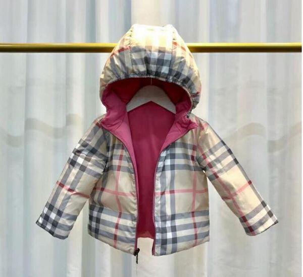 Sıcak satış marka B Kalınlaşmış çocuk Kış Ceketler 2 T-6 T Çocuk giyim Kışlık Mont 90% ördek aşağı Ceket Boys için / kız parka 2 renk