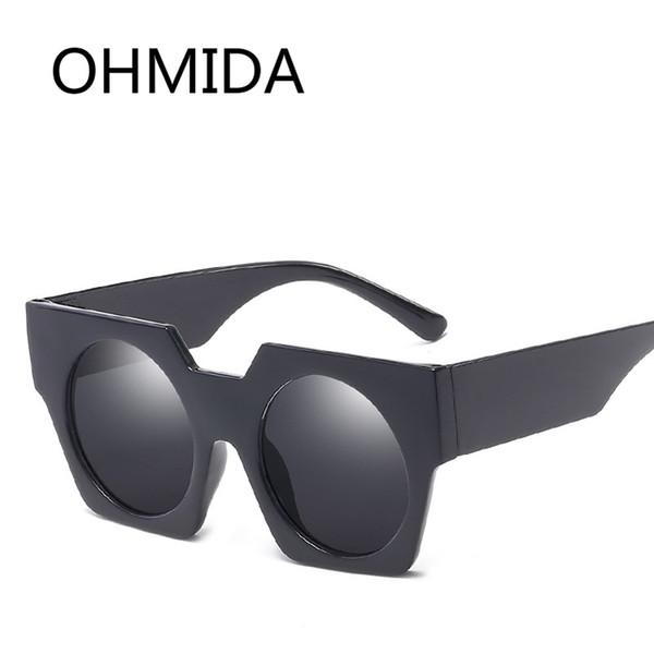 OHMIDA Hot Sale Retro Round Sunglasses Women Men Vintage Black Color Sun Glasses Female Shades Eyewear Brand Designer Sunglasses
