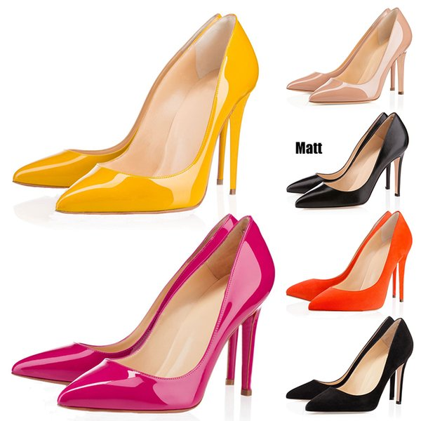 Red Bottoms Luxury Designer So Kate Styles High Heels Round Pointed Toes Pumps Women Wedding Dress Shoes 35-42 8CM 10CM 12CM