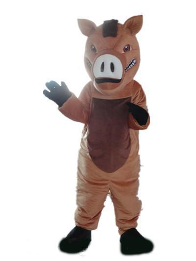 2019 High quality hot a brown boar mascot costume with big nose for adult to wear