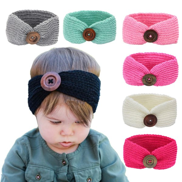 Fashion Baby Knit Crochet Bow Headband Girl Princess Party Hair