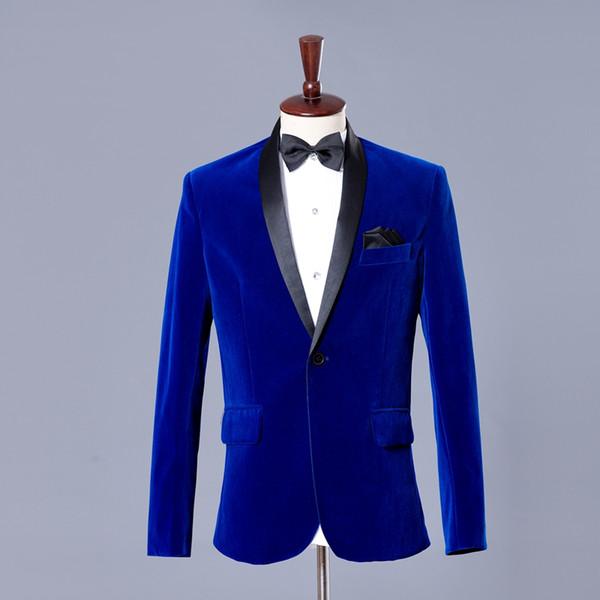 Royal Blue Mens Dress Jacket Mens Party Blazers Wedding Party Dress Blazers Men Performance Costume Blazer Slim Masculino