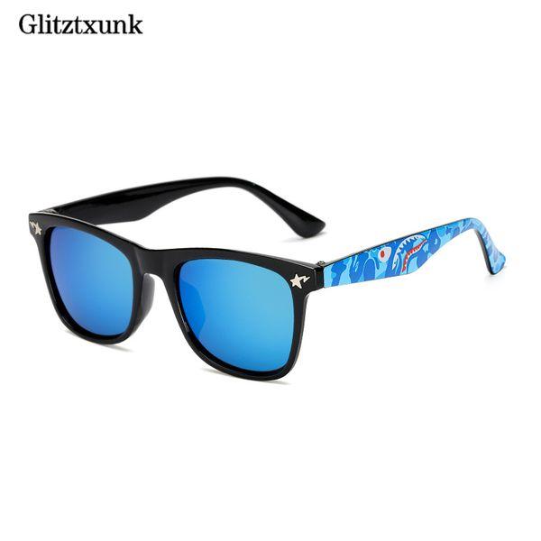 top popular Glitztxunk Fashion Children Sunglasses Black Frame Color Uv400 Square Retro Kids Sun Glasses Boys Girls Babys Outdoor Eyewear 2021