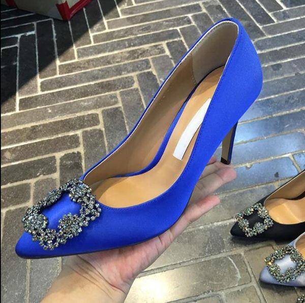 NEW Italy brand design pumps genuine SILK wedding shoes silver diamond High heels women's Shoe wedding bridal shoes original box