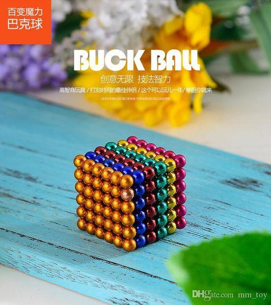216pcs / 3 milímetros set Magia ímã magnéticos Blocos bolas com Metal Box NEO Sphere Cube Beads Edifício engraçado Brinquedos PUZZLE