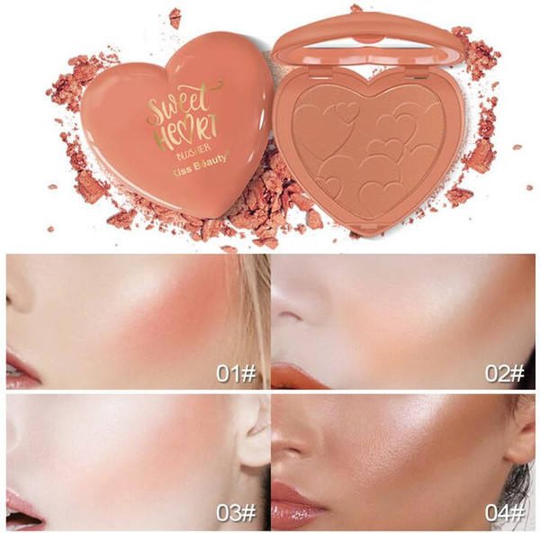 BY DHL FREESHIPPING Novos cosméticos doce amor corar rosto iluminando cosméticos de base de alto brilho