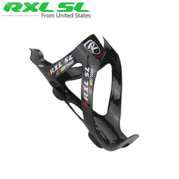 Venta al por mayor-RXL SL PRO completo de fibra de carbono de agua de la jaula MTB / bicicleta de carretera titular de la botella de piezas de bicicletas 3K 30g