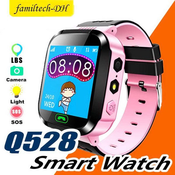 Q528 GPS Children Smart Watch Anti-Lost Flashlight Baby Smart Wristwatch SOS Call Location Device Tracker Kid Safe Watch Phone vs Q750 Q100