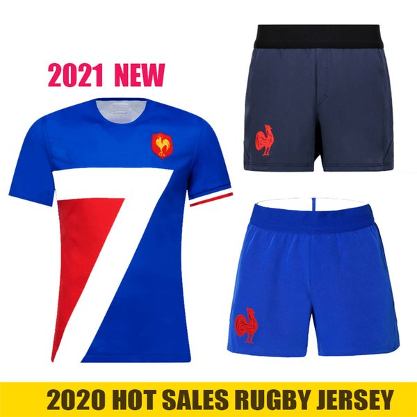top popular 2020 France rugby Jerseys national team Rugby shorts League jersey Francia Maillot Camiseta Maglia Tops S-5XL Trikot Camisas Kit Tops 2020