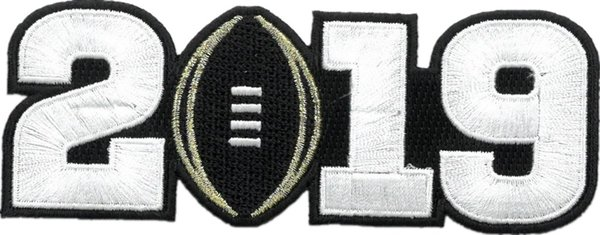 2019 Championship Patch (White Number)