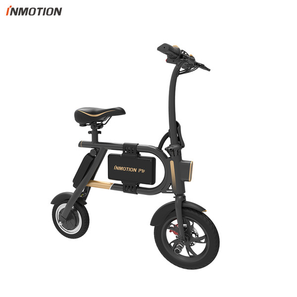 top popular INMOTION E-BIKE P1F Folding Electric Scooter Mini Style IP54 APP Supported 30km h Electronic Bike 2020