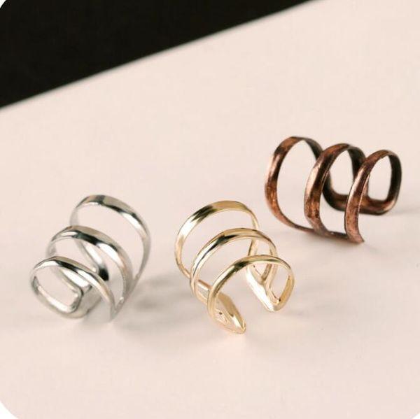 1Pc U Shape Ear Clips Non-piercing Cartilage Hoop Gold/Silver Ear Cuff Earrings Charm Jewelry Accessory For Women Girls Supplies
