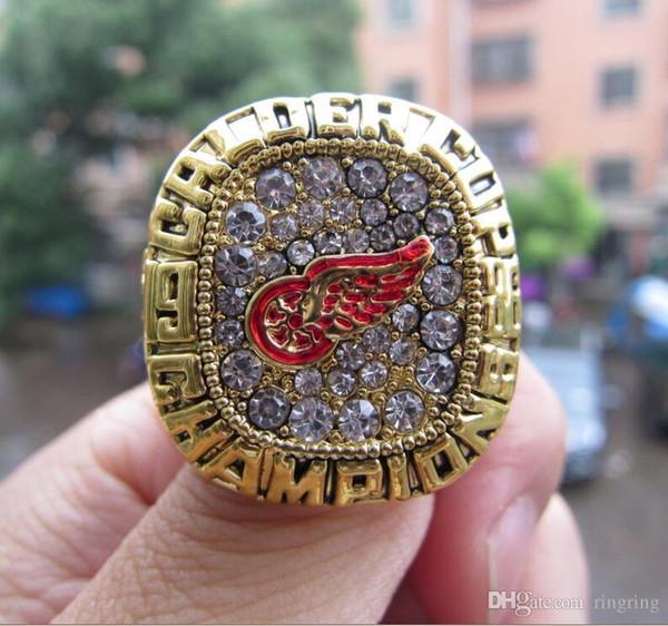 Envío de la gota 1986 Detroit Red Wings Stanley Cup Championship Ring Fan Men Gift Wholesale