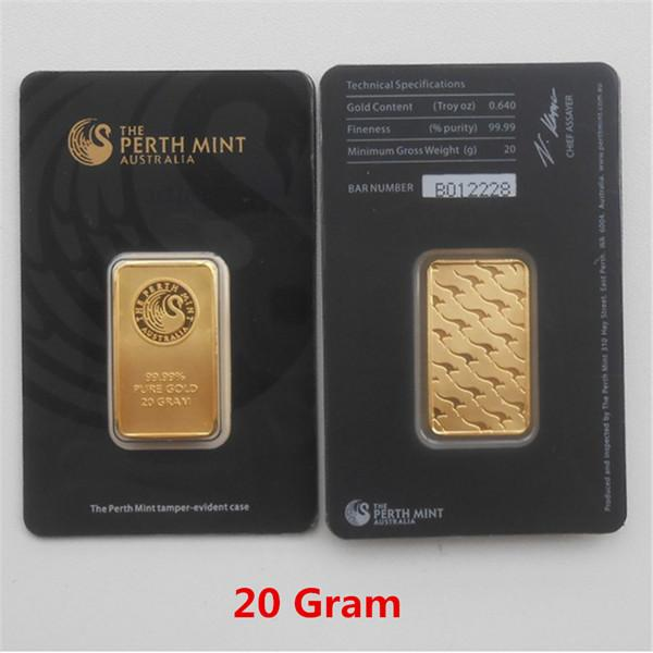 20 Gram Black Gold Bar