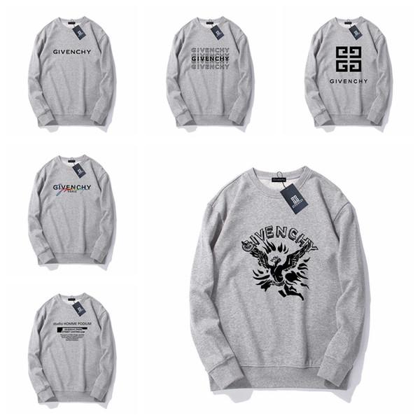 Givenchy Estrenar 2019 para hombre de mujer de marca diseñadores de impresión de letras sudaderas con capucha Hip Hop Casual Male sudadera Jumper # 29873
