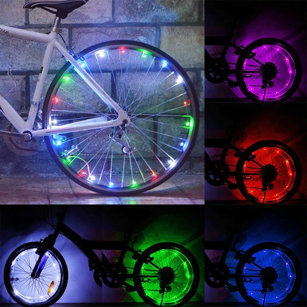 LED Colorful Bicycle Lights Mountain Bike Light Cycling Wheel Spoke Lamp Bike Accessories Night Riding Decorative Lights
