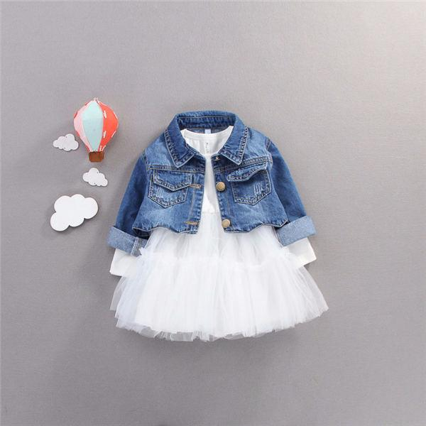 2019 Real Time-limited Sale Patchwork Cotton England Style Full Girls Dresses Spring Veil 0-3 Years Old Children Princess Dress clothes