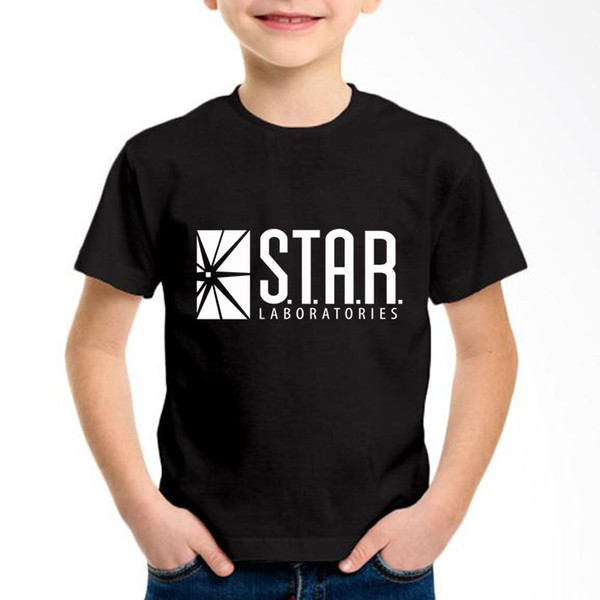 TV Play The Flash Star Printed Children Cotton T-shirts Kids Superhero Summer Tees Boys/Girls Casual Tops Baby Clothes,GKT004