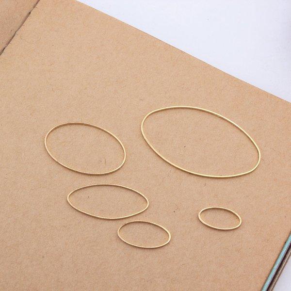 Yığın Bulguları Bileşenleri 30 adet / grup Altın Rodyum Renk Bakır Takı Konnektörleri Bulgular Oval Şekli Küpe Konnektör Bileşenleri ...