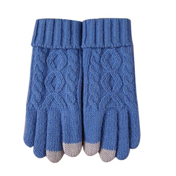 quality design baab8 170db Großhandel 2019 Womens Winter Warme Gemütliche Wolle Stricken Dicke Fleece  Gefütterte Handschuhe Fäustlinge Vestido De Festa Robe Femme Hiver # 25 Von  ...