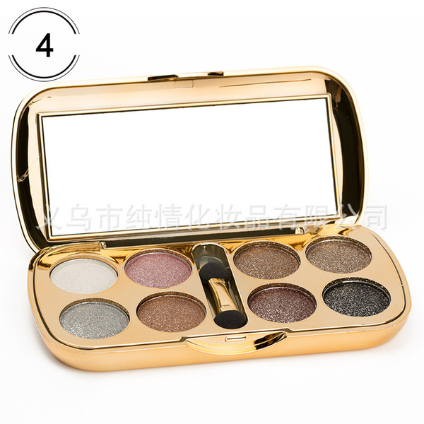 2019 new wholesale explosive eye shadow 8 color with flash powder beautiful sparkling eight-color diamond eye shadow 0052