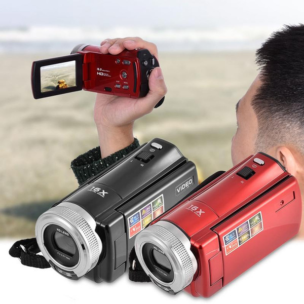 Mini fotocamera elegante 16MP TFT LCD da 2,7 pollici Schermo HD 720P Fotocamera digitale Zoom 16X Videocamera CC Video DV Stati Uniti