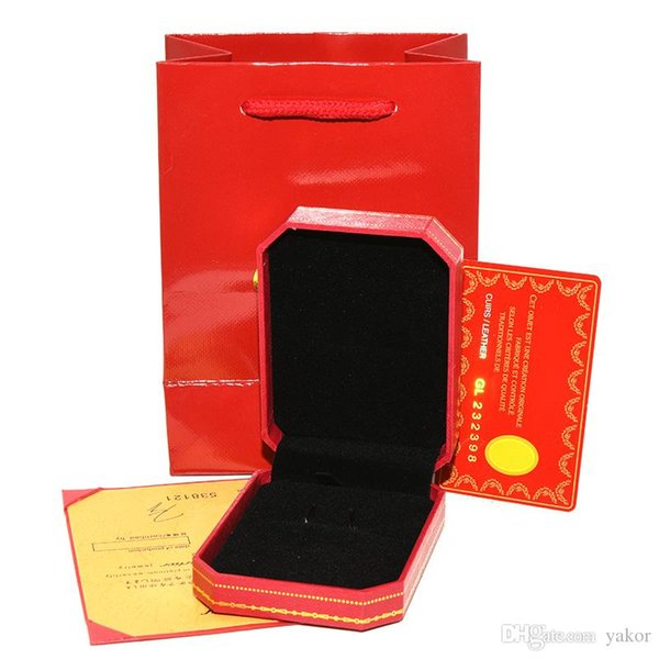 High Quality Red Original Necklace retail Box Paper bags Cards for Women Wedding Jewelry Gift Necklaces Packaging Boxes