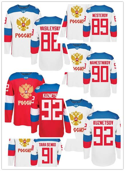 best selling Olympic Russia nesterov namestnikov kuznetsov varlamov bobrovsky hockey jersey and other name and number jersey