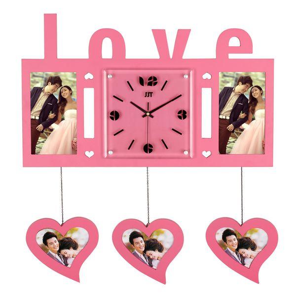 créativité cadre photo horloge murale salon décorer montre moderne simple horloge individualité horloge chambre montre de poche