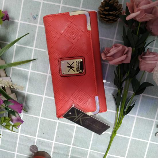 High Capacity KK Kim European and American Style Women Wallets Long Wallets Solid Leather Hasp Zipper Womens Wallets And Purses Clutches Fem