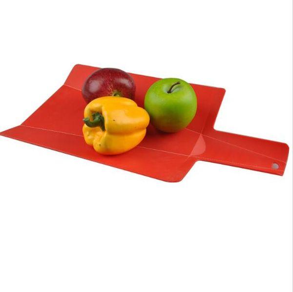 Kunststoff Faltbare Hackblöcke Haushalt Mit Rutschfesten Griff Schneidebrett Obst Fleisch Gemüse Küche Kochen Werkzeuge Praktische H059