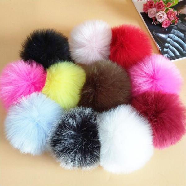 Con Rubber Band False Hairball Fatto a mano Simulazione Palle di lana Artificiale Pelliccia di volpe Pom Pom Ball Popolare 2 37ml BB