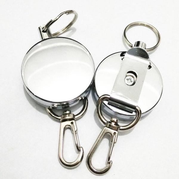 Chaîne durable Pull rétractable bobine bonne carte métal ID Délicat Badge Holder Reel Recoil Clip ceinture libre DHL 0001
