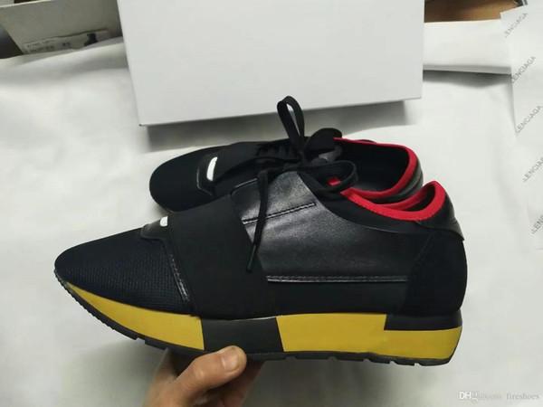 2019 Yeni Popüler Tasarımcı Yüksek Kalite Adam kadının Moda Low Cut Dantel Up Nefes Örgü Sneaker Ayakkabı Açık Havada Yarış Koşucu Rahat Ayakkabı
