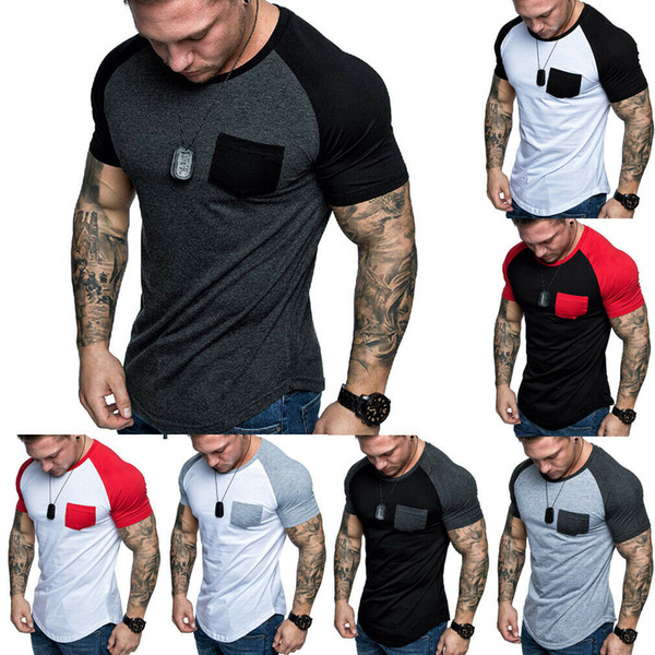 Hirigin Jogger Casual camiseta Hombre de manga corta Slim Fit Gym Camisa elástica Summer Casual Muscle Tee Tops Camisetas