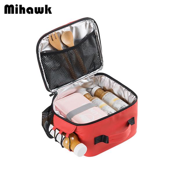 Mihawk Portable Cooler Lunch Bags Frauen Isolierte Thermische Frische Tote Männer Picknick Fruchtgetränk Bento Box Handtasche Zubehör