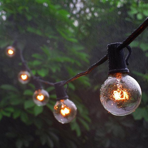 G40 Globo Fiesta Cadena de Navidad Luz guirnalda boda jardín fiesta en el árbol calle Patio Luces de hadas Bulbos de época al aire libre