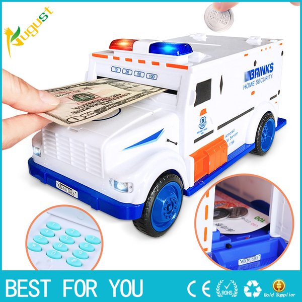 Digitale Sparschwein Kinder Spielzeug Spardose Einsparungfächer Elektronische Tirelire Enfant Kinder Bargeld Auto Münze Sichere Lkw