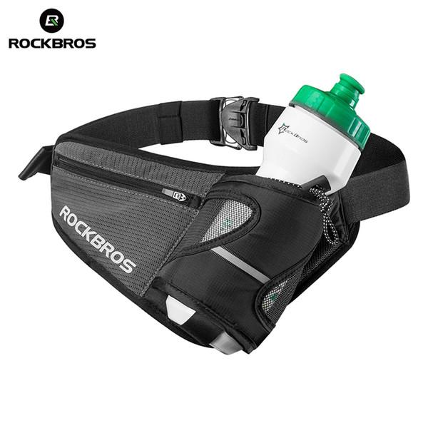 ROCKBROS Reflective Climbing Sport Bags Water Bottle Belt Bag Softback Hiking Camping Cycling Travel Fitness Running Waist Bag