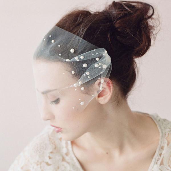 Бесплатная доставка белая слоновая кость фата чистая свадебные шляпы фашинатор лицо фаты с
